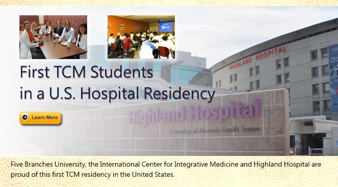 Chinese Medicine residencies in U.S. hospitals.